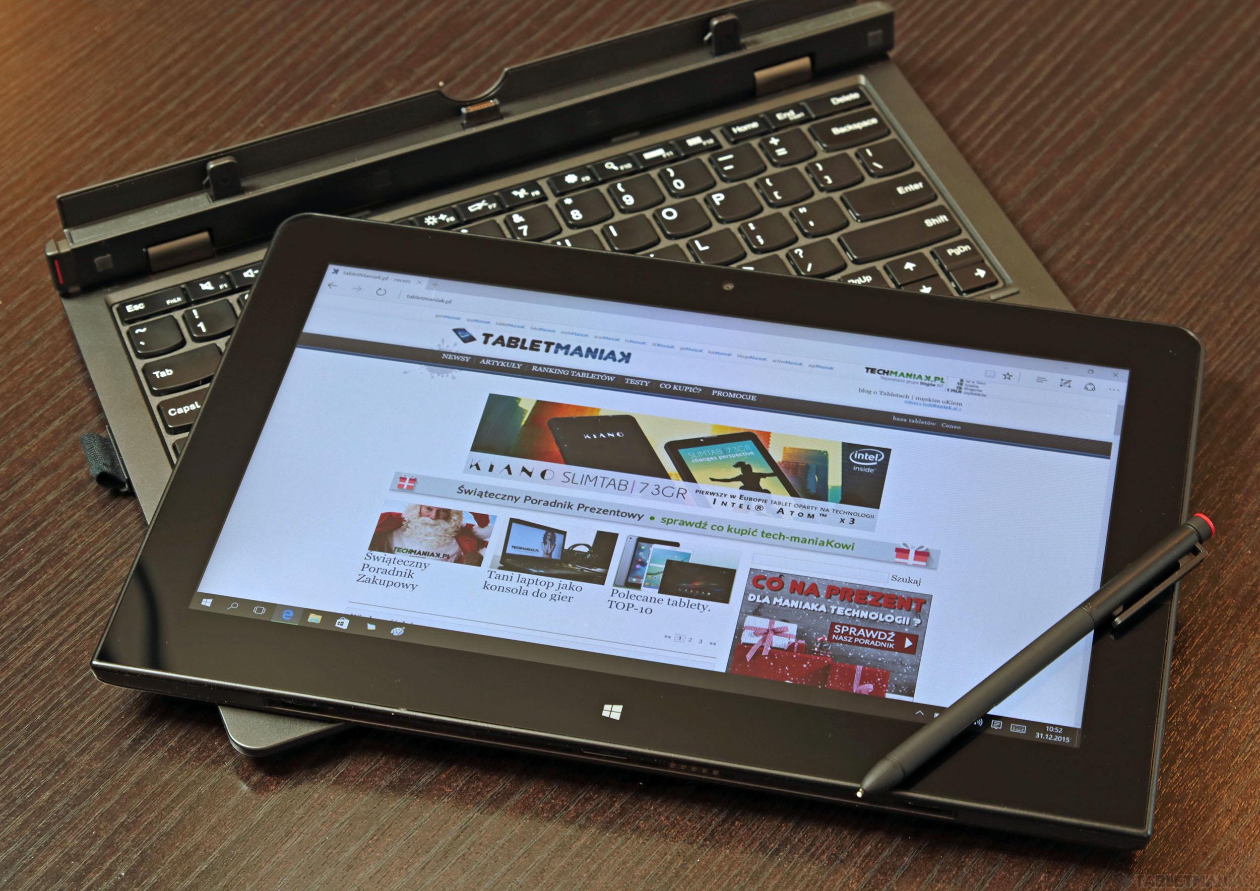 Lenovo ThinkPad Helix 2 - test. Mocny tablet z Windows 10, rysikiem i klawiaturą