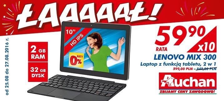 Lenovo Miix 300 za 599 zł. Musisz się jednak pospieszyć